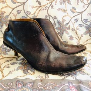 CYDWOQ Bench Crafted Leather Booties